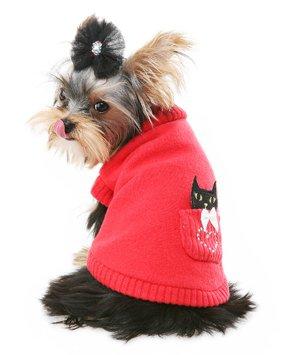 Kitty Basket Sweater Puppy Angel rot