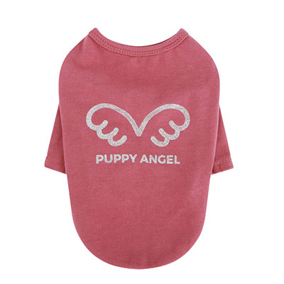 Puppy Angel *Signature Wing T-Shirt* pink