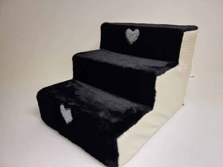 Hundetreppe Eh Gia aqua-white-schwarz
